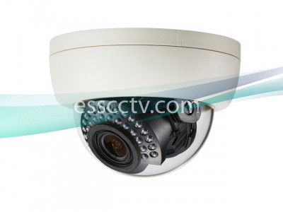 KT&C KPC-DNN100NHB Indoor IR Dome Camera 550 TVL, 3.6mm Fixed Lens, 30 IR LED 100FT, 12V DC