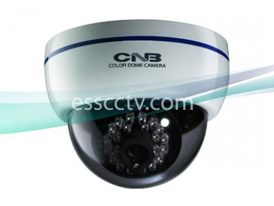 CNB LBM-20S 600 TVL Color Infared Indoor Dome Camera 28 IR, White Case