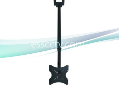 LCD TV and Monitor Ceiling Mount for 17~30 in, VESA standard Black Steel Bracket
