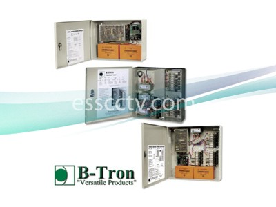 B-TRON Power Distribution Box 12V DC Regulated 4ch 8 Amps UL Listed, Fused or PTC
