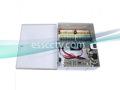Power Supply Distribution Box: 12V DC 18 channels 29 Amps, Fused, UL Listed
