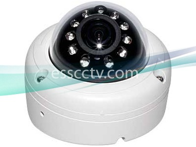 EYEMAX IA-6010 Outdoor Dome IR Camera, 620 TVL, small IP 68 case, 10 LED, Surface/Flush Dual Mount